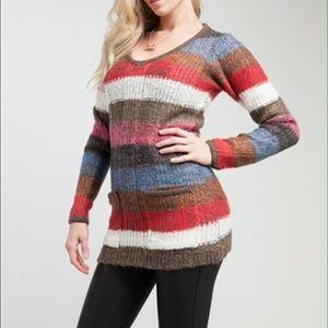 Ashley by 26 International Striped Knit Sweater  S